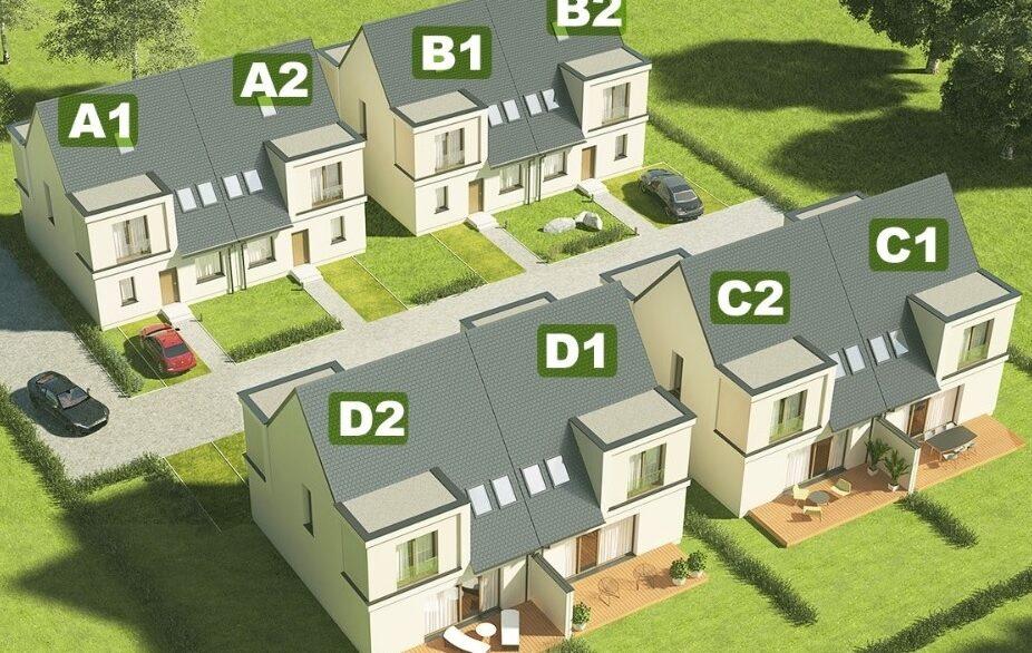 domy z numerami